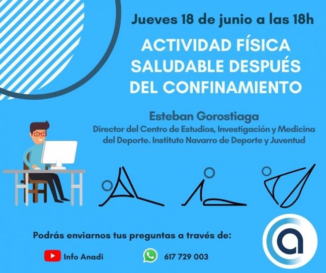 Charla: Actividad física saludable después del confinamiento